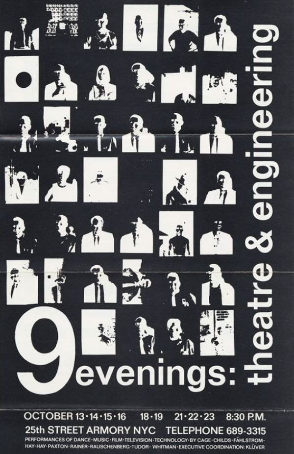 9 evenings: Theatre and Engineering. Flyer. Imagen de Fundación Daniel Langlois